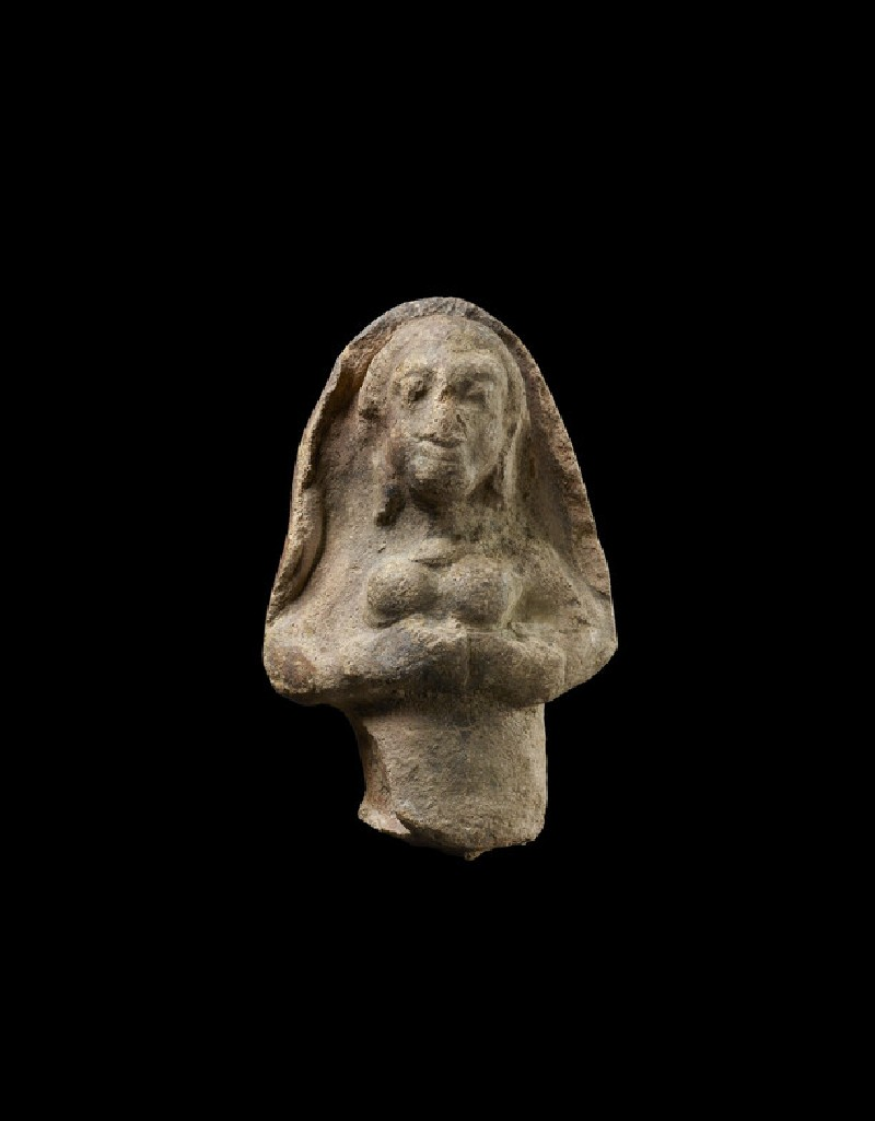 Plaque with a female figure with folded hands (EA1970.169)