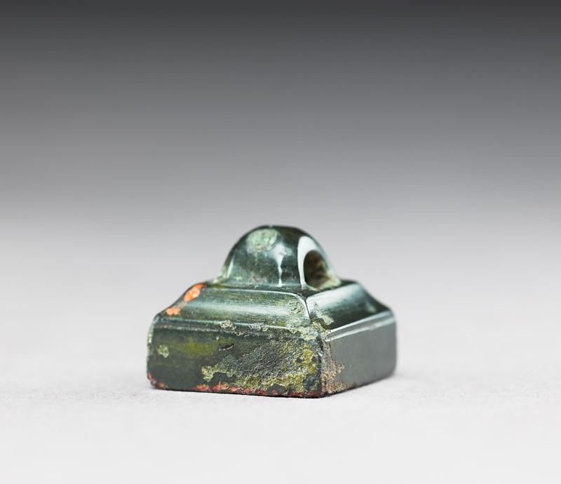 Bronze seal with loop handle