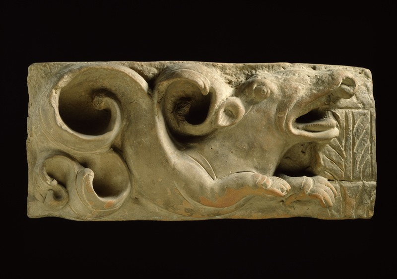 Plaque with a makara, or aquatic monster (EA1971.13, front           )