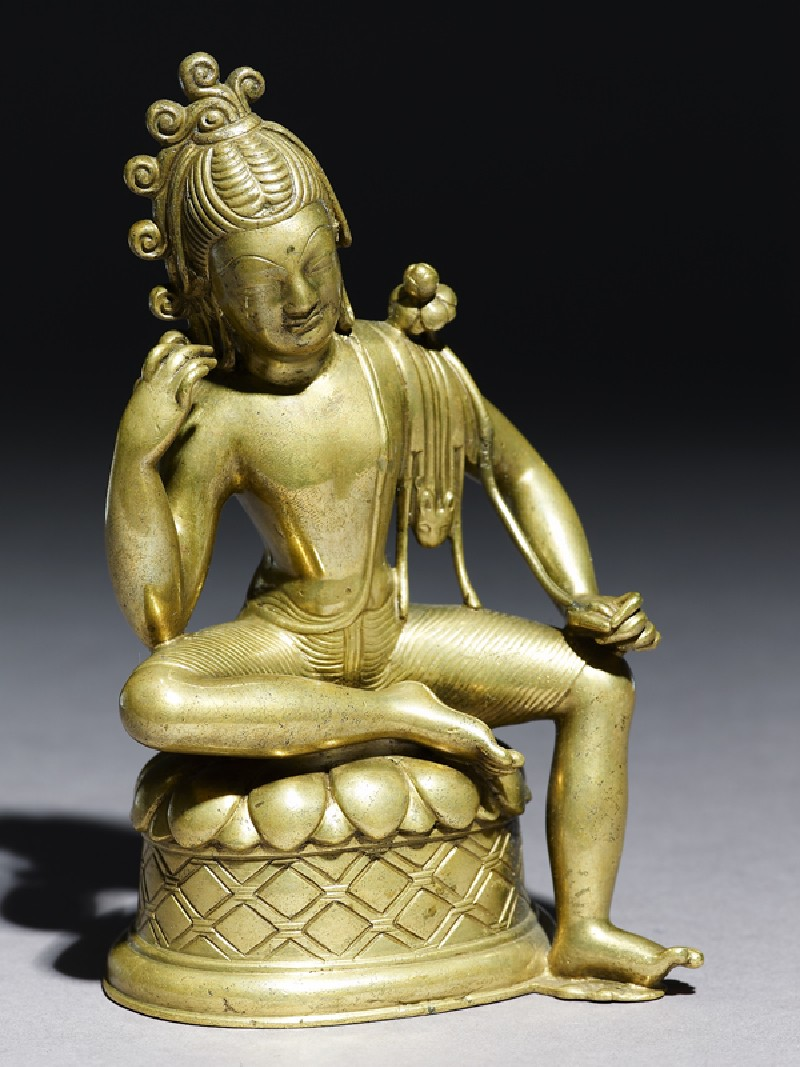 Seated figure of Padmapani (oblique           )