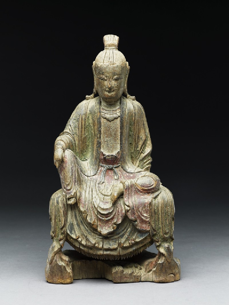 Seated figure of a bodhisattva (EA1971.18, front           )
