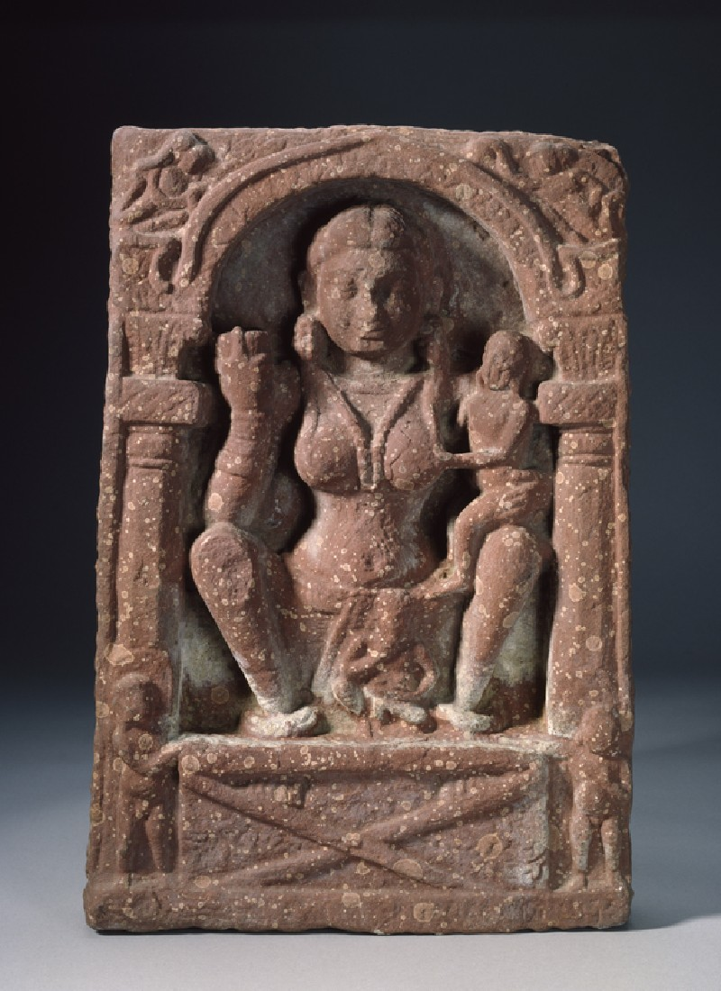 Relief plaque depicting the goddess Hariti
