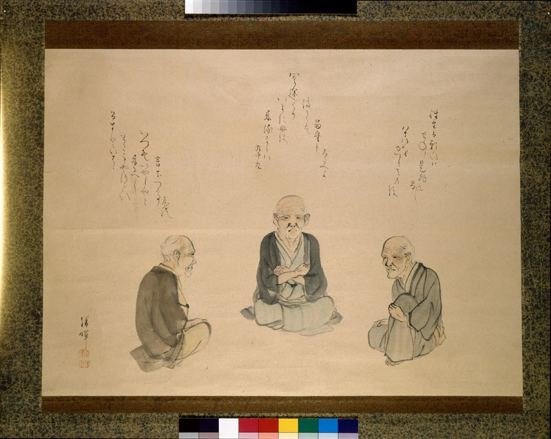 Three old men thinking about death (detail            )