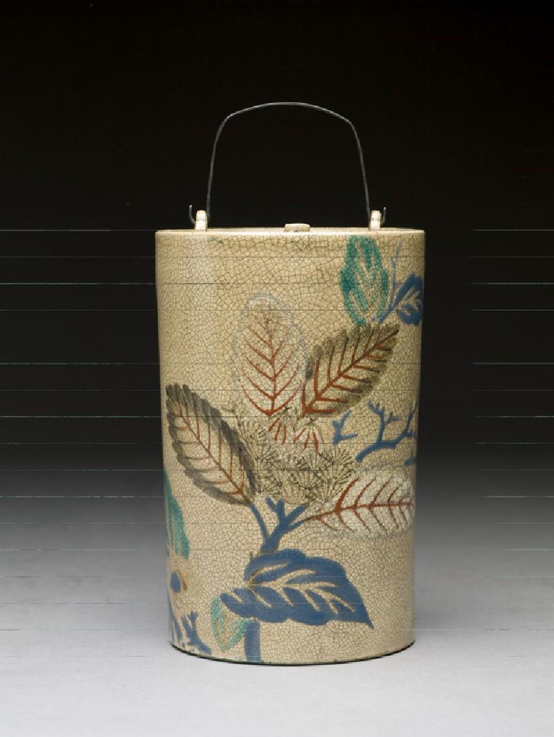 Sake bottle with leaves (EA1974.18)