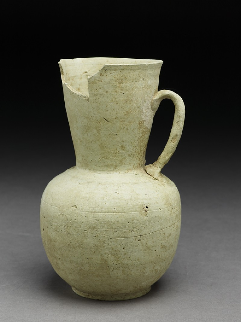 Water jug with traces of a filter inside the neck (EA1974.34, oblique           )