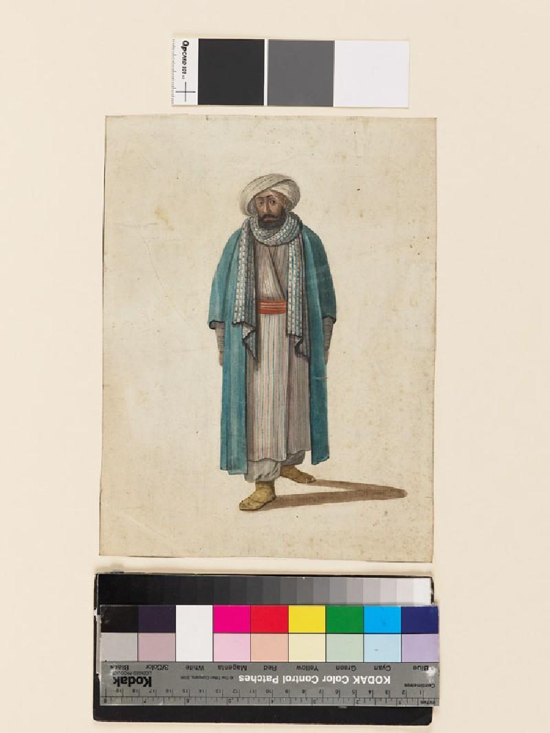 Man in oriental costume
