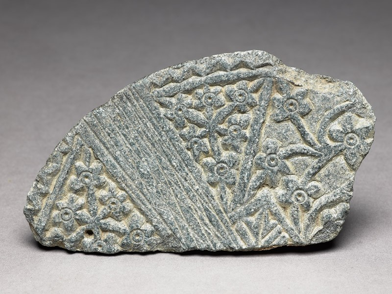 Lid fragment with floral decoration (EA1974.60, top           )
