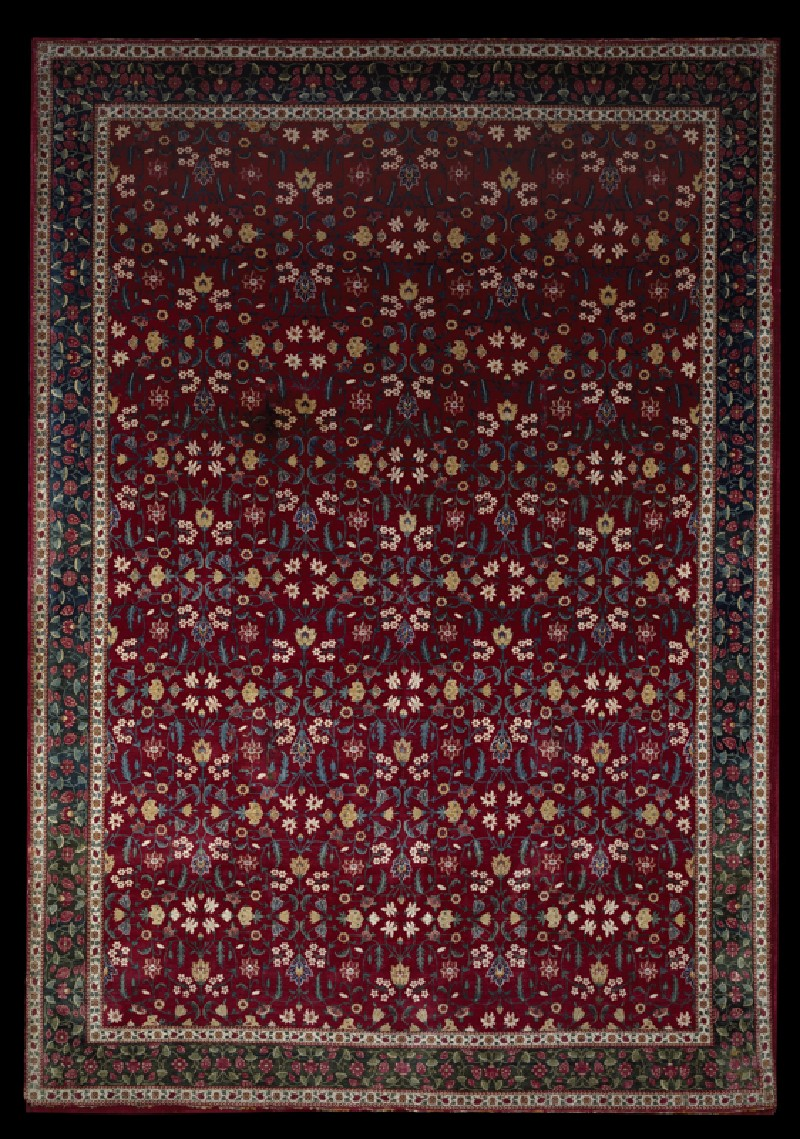 Mughal carpet with floral pattern