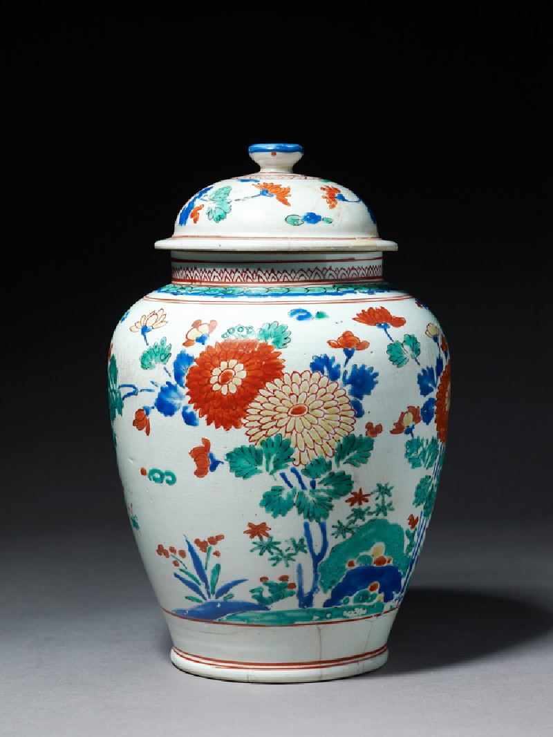 Baluster jar with flowers