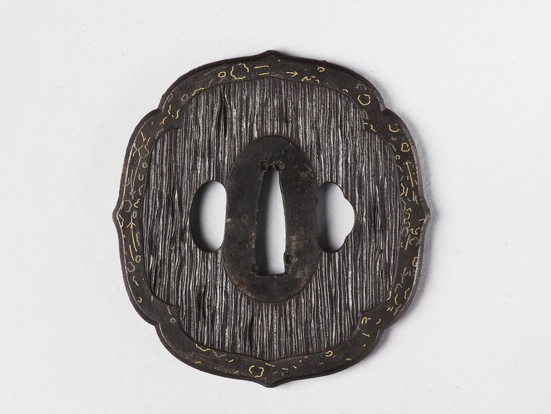 Mokkō-shaped tsuba with design of tree bark (EA1978.272, front            )
