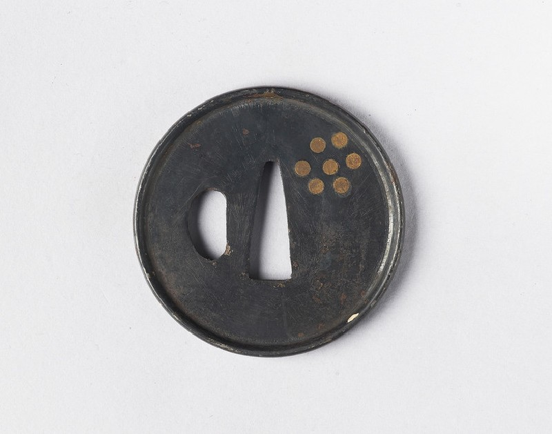 Round tsuba with design of a constellation (EA1978.388, front            )