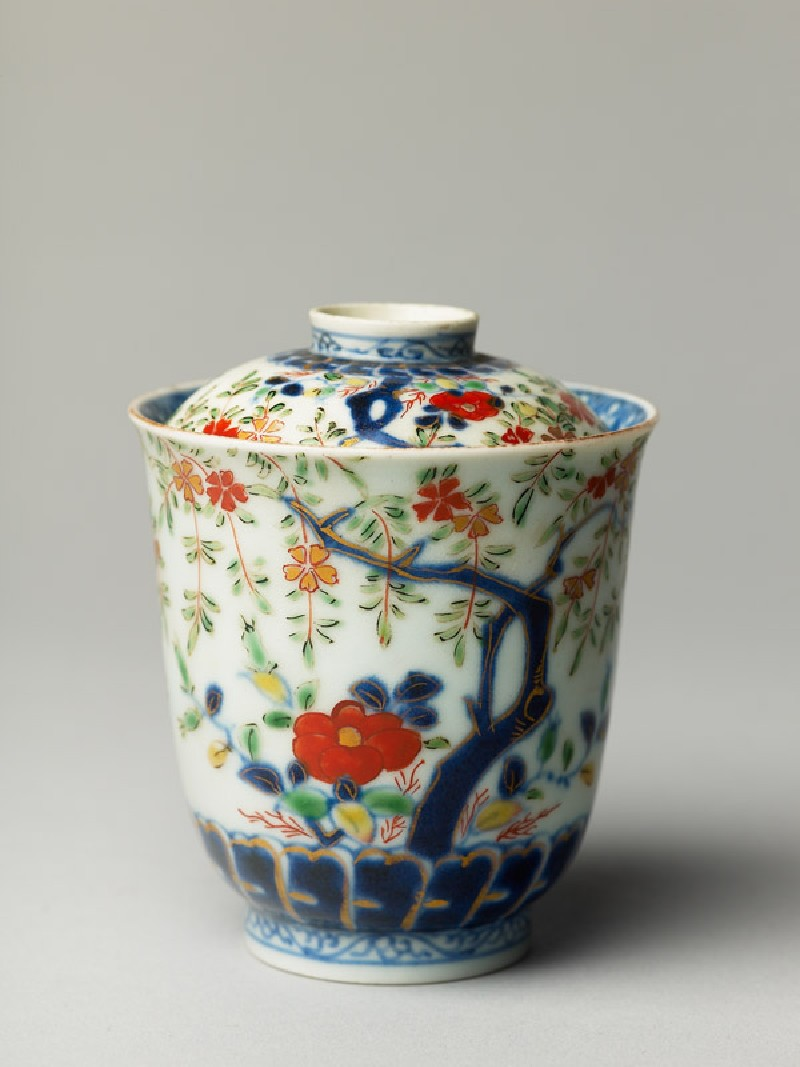 Lidded cup with trees and flowers (EA1978.439, oblique            )