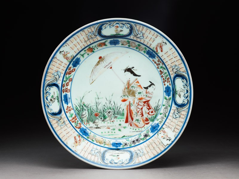 Plate with a courtesan and apprentice (EA1978.501, top            )