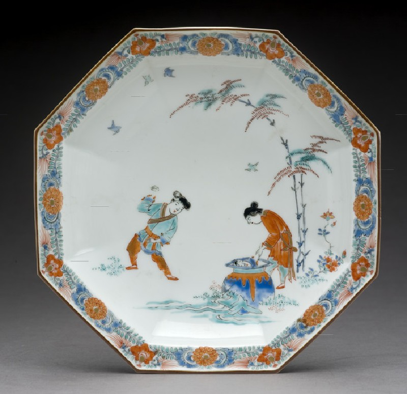 Octagonal dish with Hob in the Well design (EA1978.573)