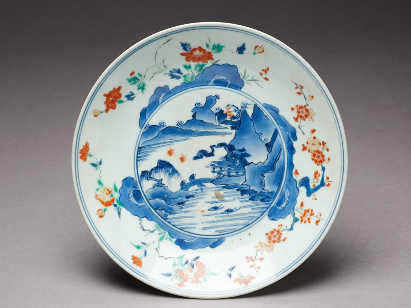 Plate with river scene (EA1978.628, top            )