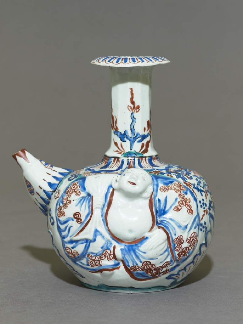 Kendi with figure of Hotei (EA1978.641, side            )