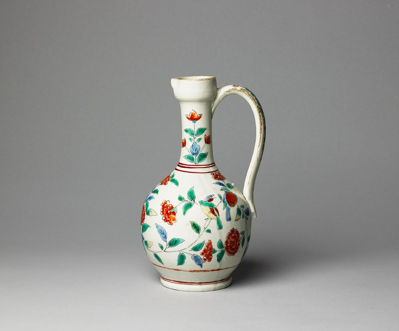 Jug with formal flower sprays and birds (EA1978.671, side            )