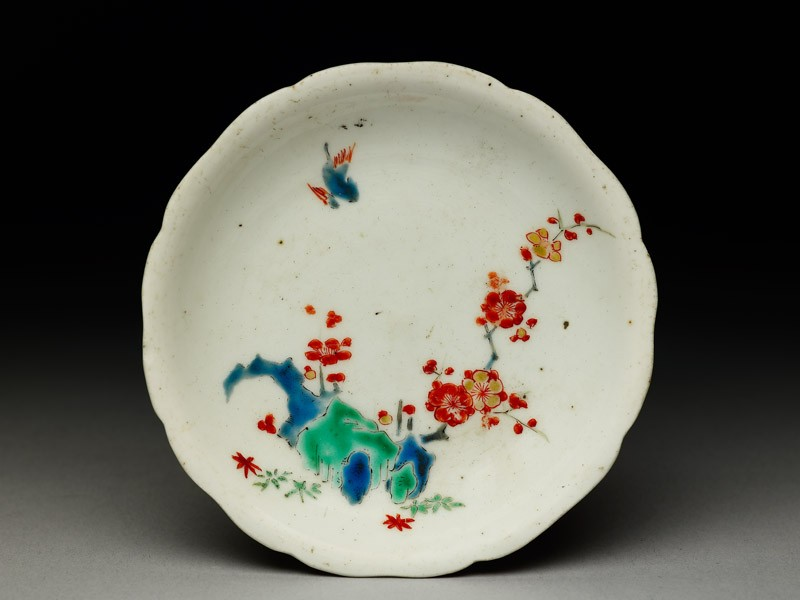 Foliated saucer with prunus spray (EA1978.684, top            )