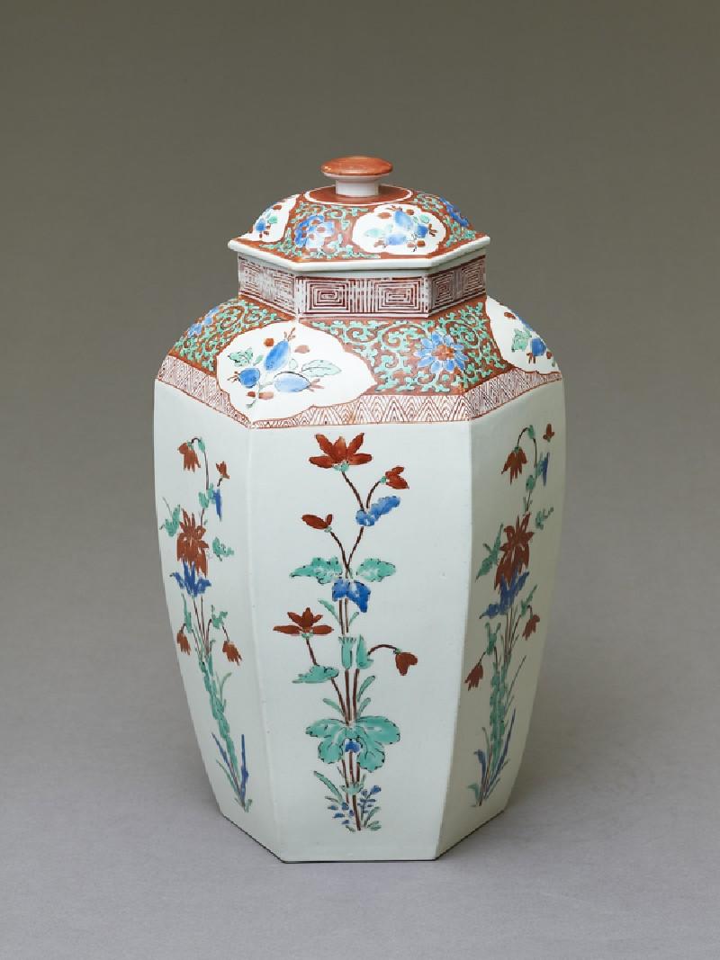 Hexagonal 'Hampton Court' jar (oblique            )