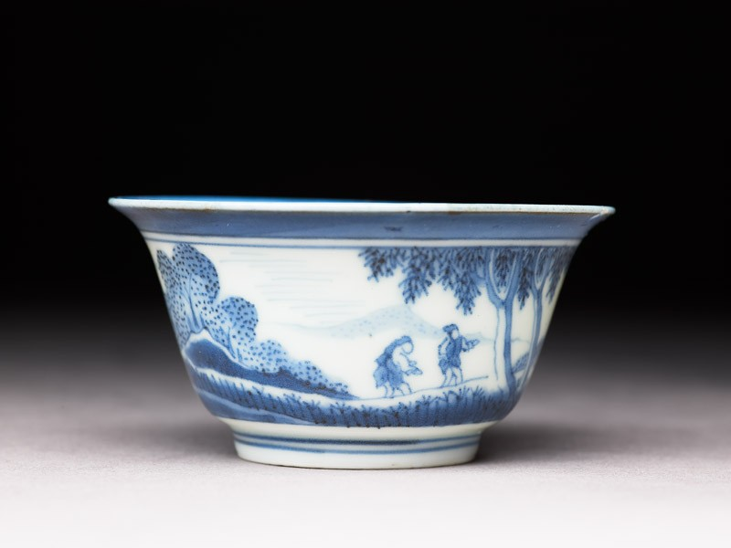 Bowl with 'Deshima Island' theme (side            )