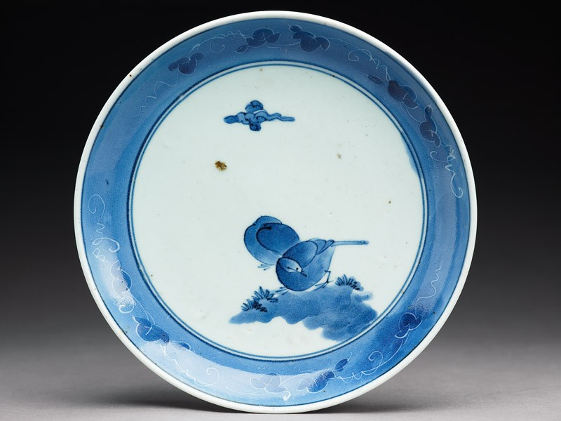 Plate with two birds under a cloud (EA1978.762, top            )