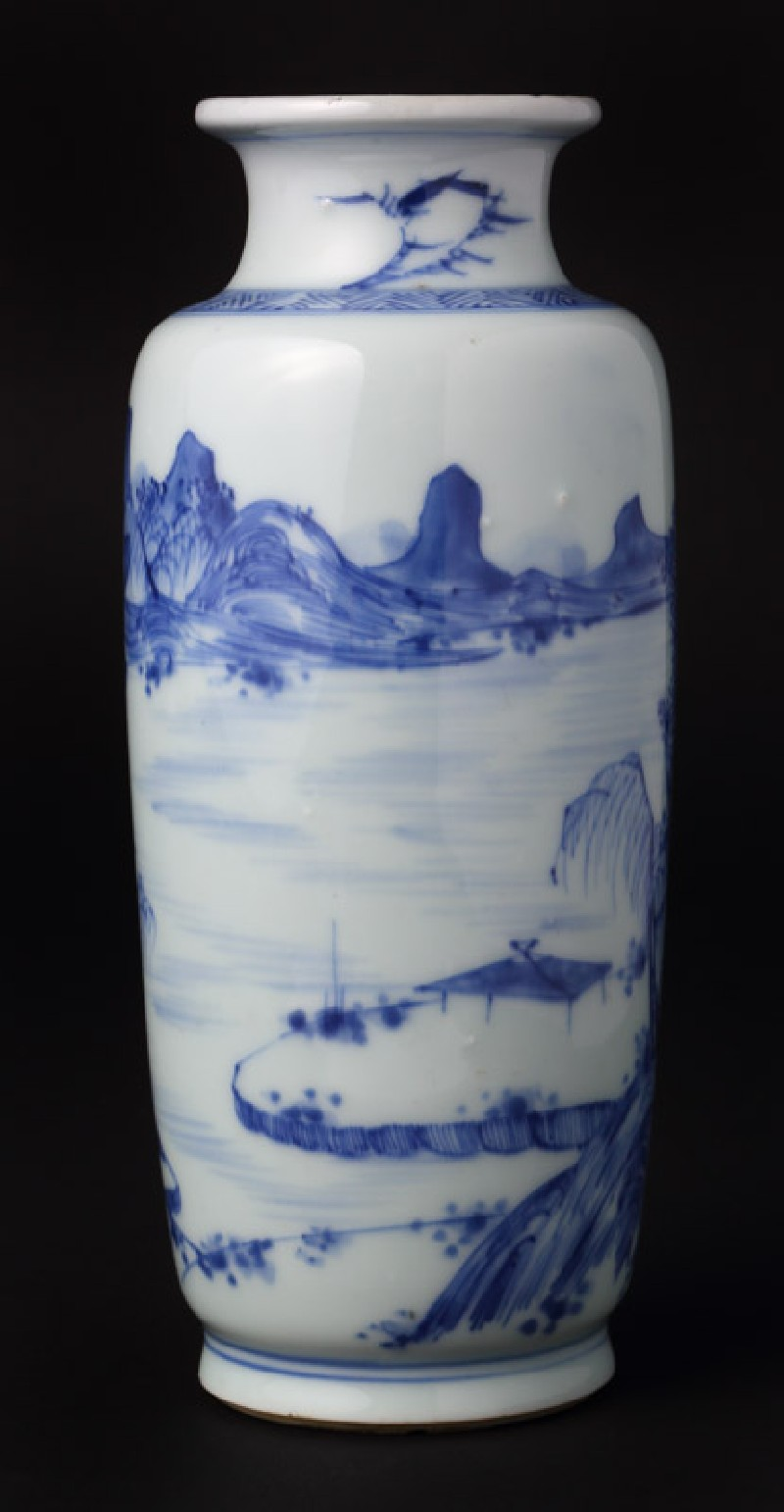Blue-and-white vase with landscape (EA1978.830, front            )