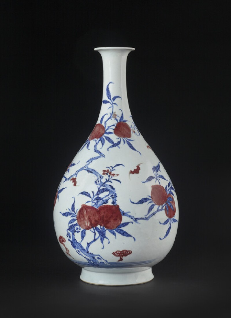 Bottle with peach tree and flying bats (EA1978.1028)