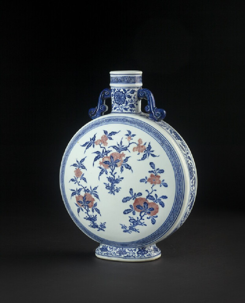 Flask with with sprays of pomegranate, citrus and peaches (EA1978.1080)