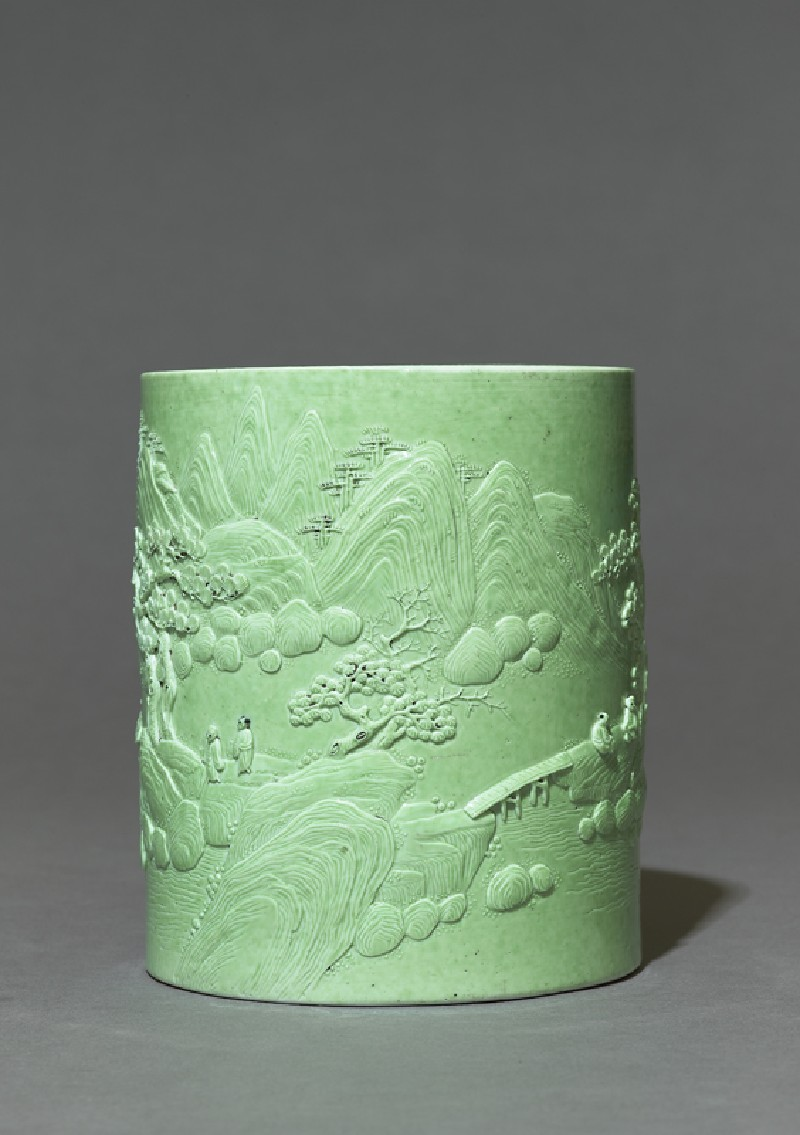 Brush pot with figures in a landscape (EA1978.1087, side             )