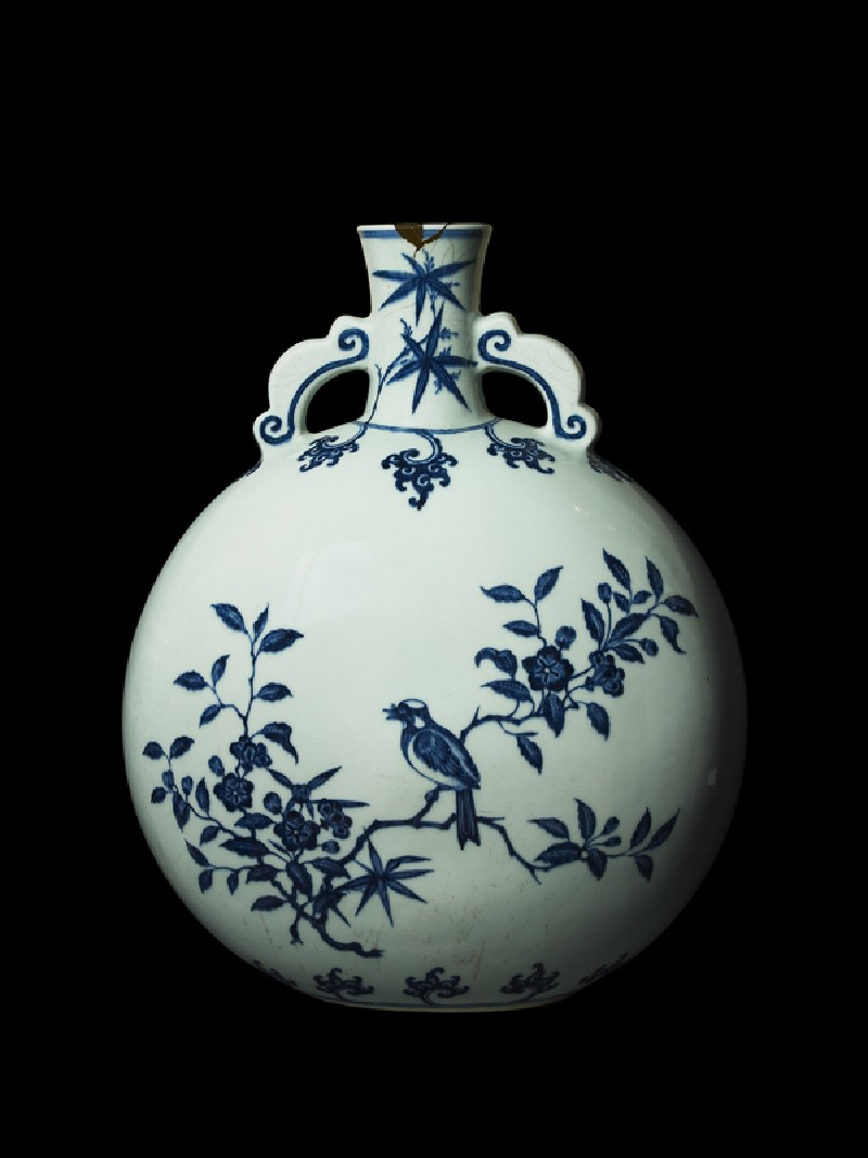 Large pilgrim bottle with birds in trees (EA1978.1279, side             )