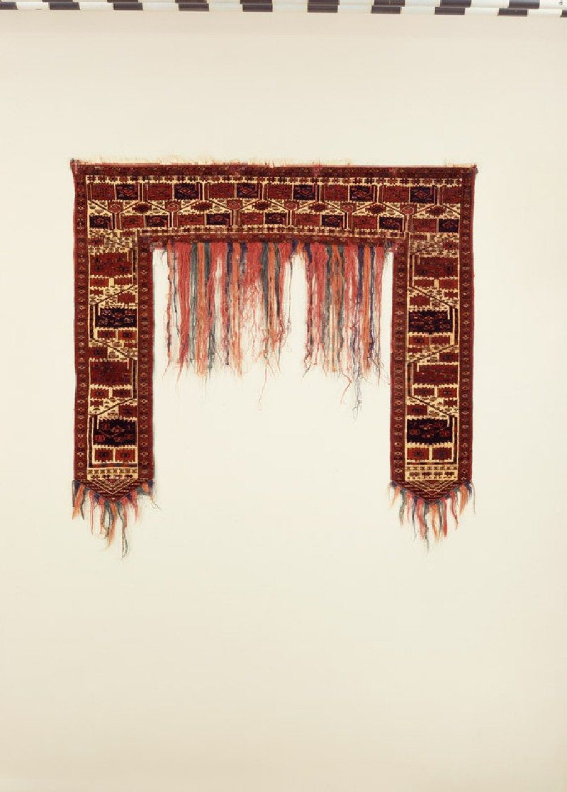 Tent door surround, or kapunuk, with rectangular saw-edged medallions (EA1978.1384, front             )