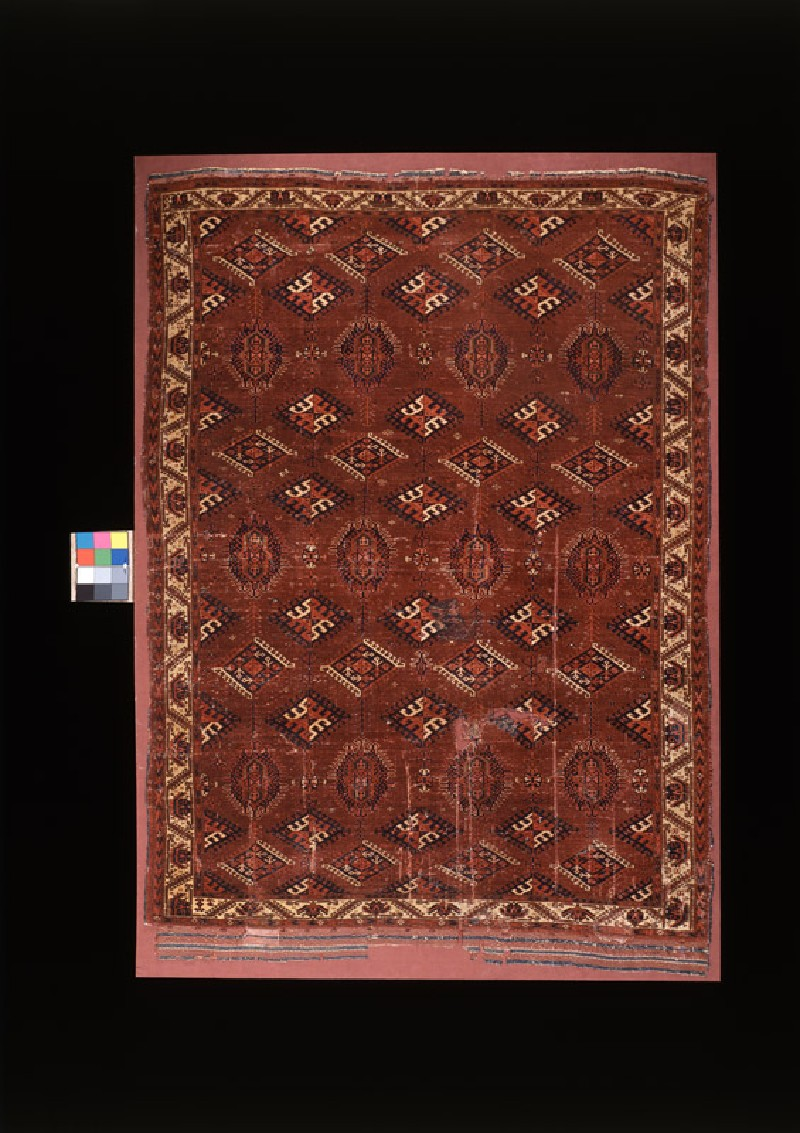 Carpet with geometric shapes and medallions (front             )