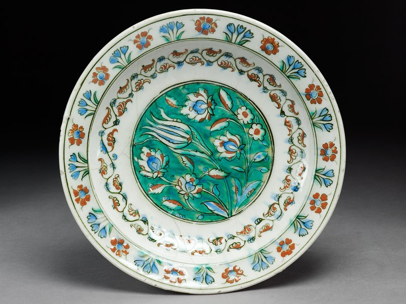 Dish with flowers (EA1978.1432, top             )