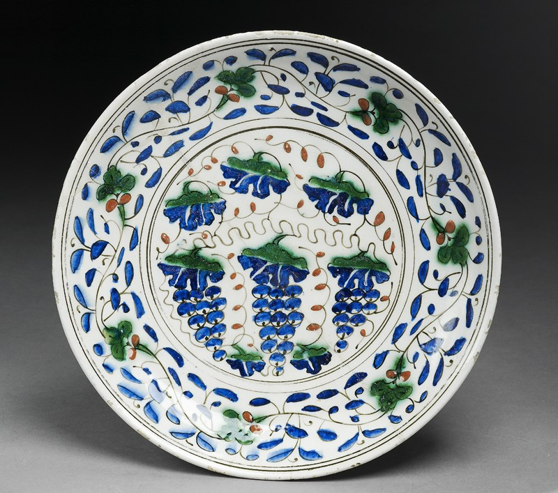 Dish with grapes (EA1978.1480, top             )