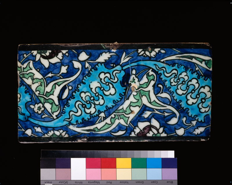Rectangular tile with leaves (EA1978.1515, front             )