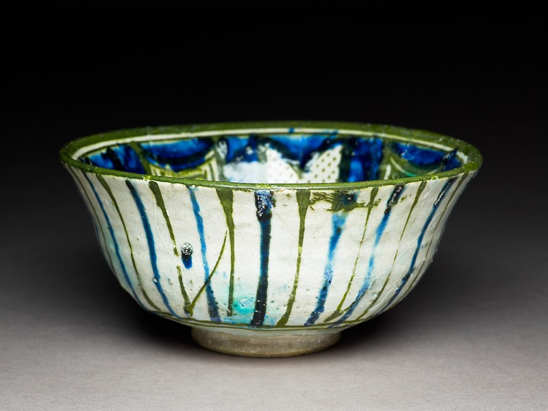 Bowl with radiating panels (EA1978.1598, oblique             )