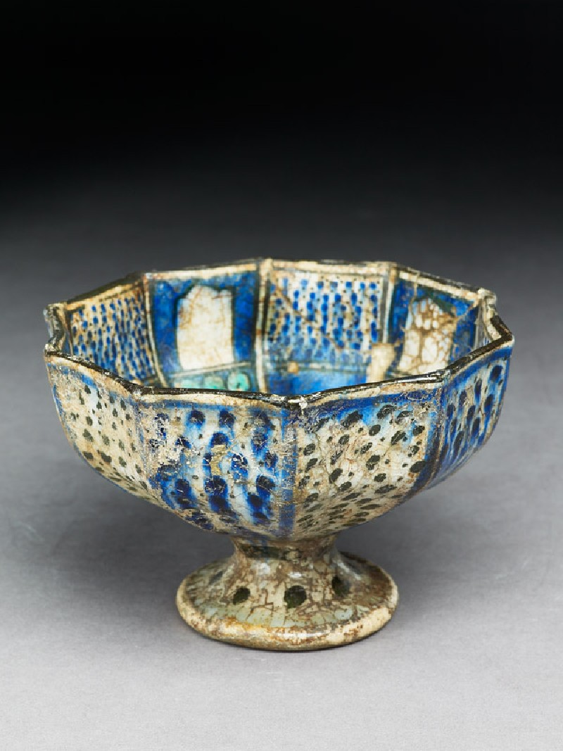 Stem cup with radiating panels (EA1978.1621, oblique             )