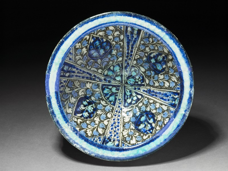 Bowl with foliate decoration (top             )
