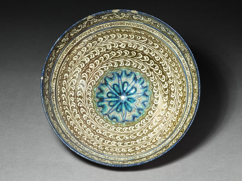 Bowl with vegetal decoration and central rosette (EA1978.1640, top             )