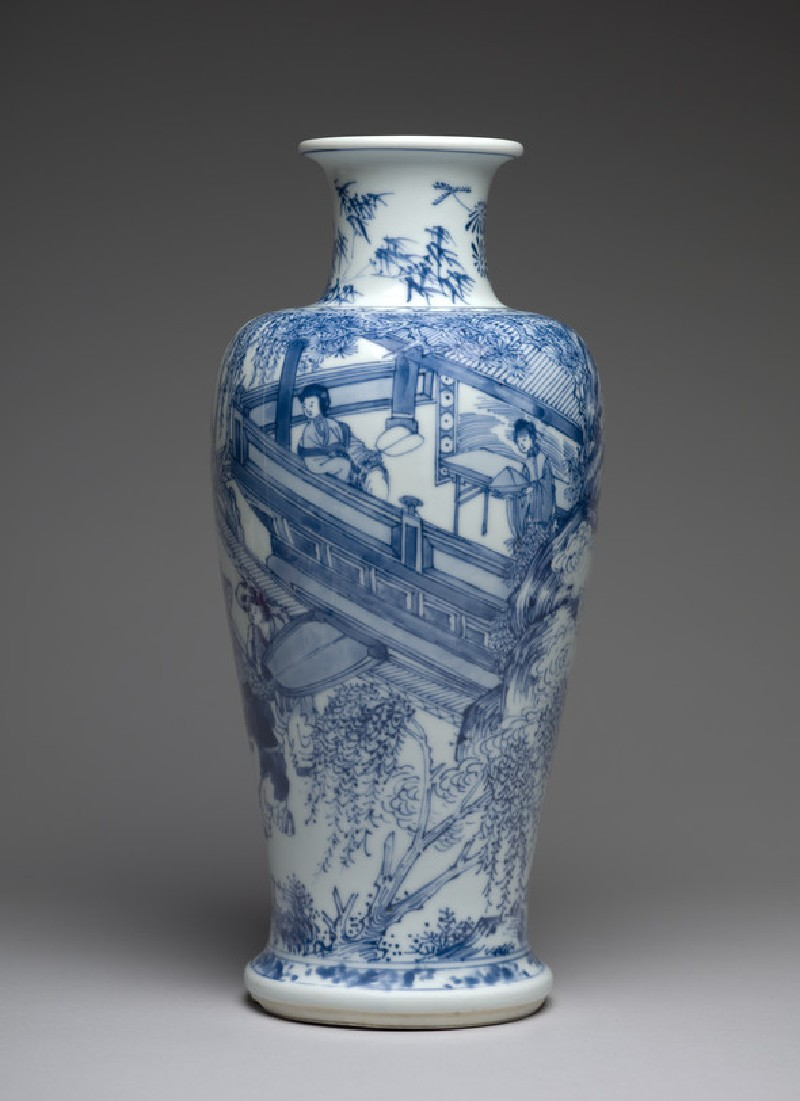 Blue-and-white vase with figures on a balcony (EA1978.1996)