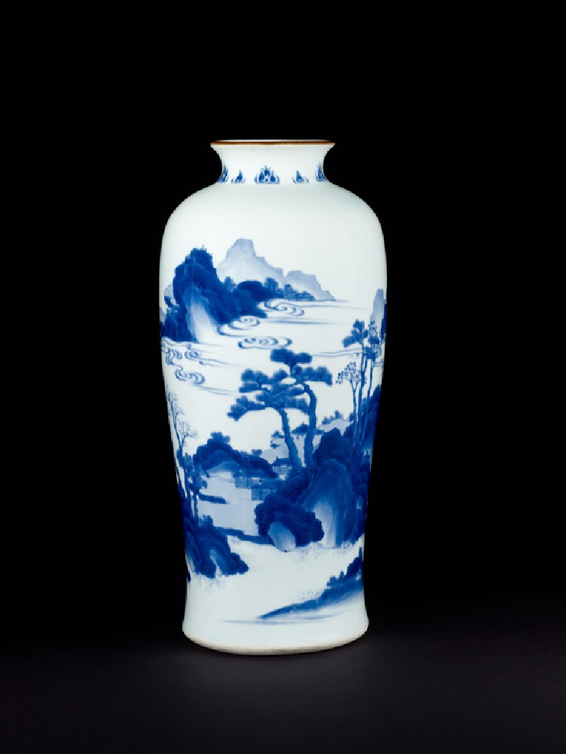 Blue-and-white vase with cloudy landscape (EA1978.2059, front             )