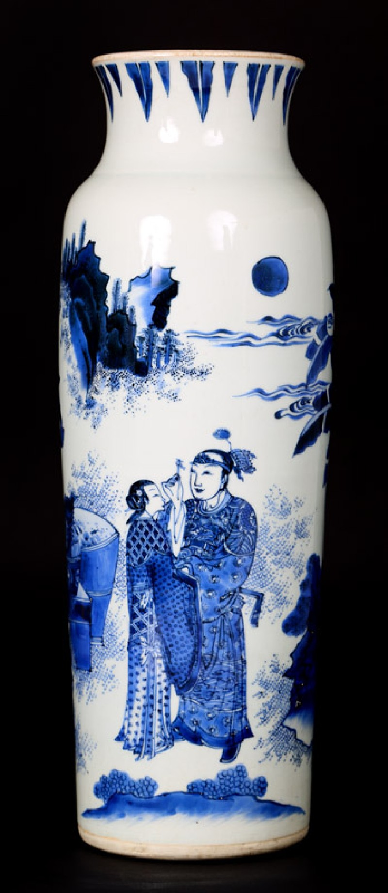 Blue-and-white vase with lovers in a landscape (EA1978.2060, front             )