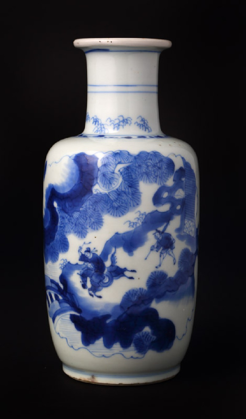 Blue-and-white baluster vase with figures in a landscape (EA1978.2070, front             )