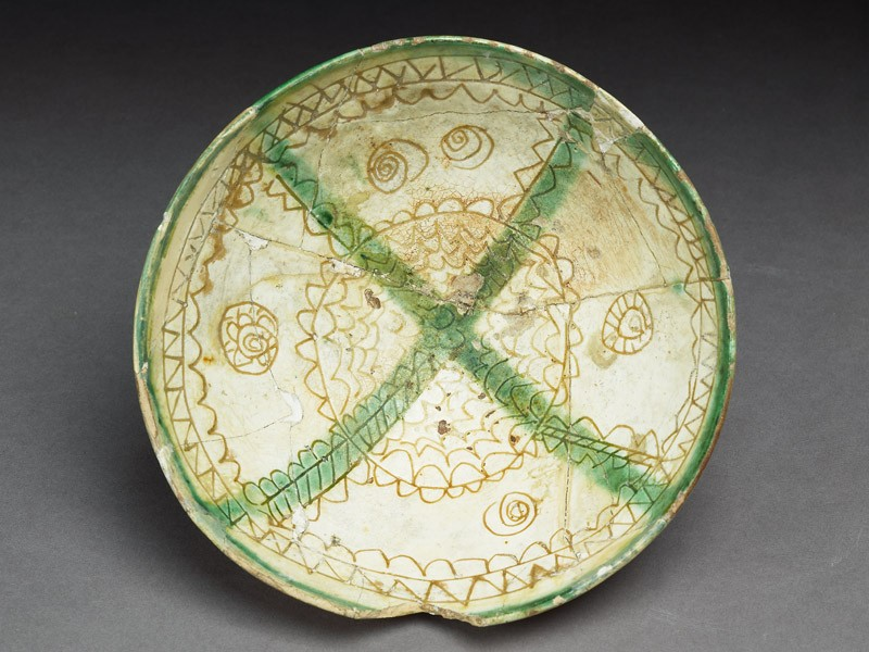 Bowl with medallions, rays, and lozenges