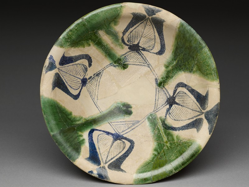 Bowl with blue and green decoration (EA1978.2141, top             )