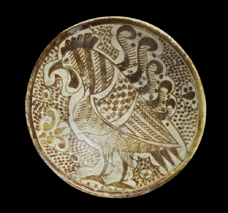 Saucer with cockerel (EA1978.2144)