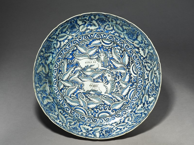 Dish with horses (EA1978.2167, top             )