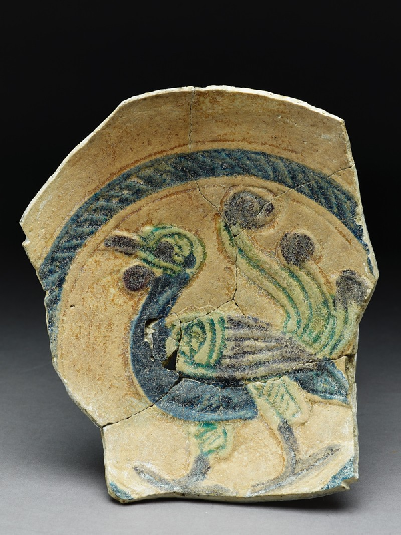Fragment of a dish with peacock (EA1978.2177, top             )