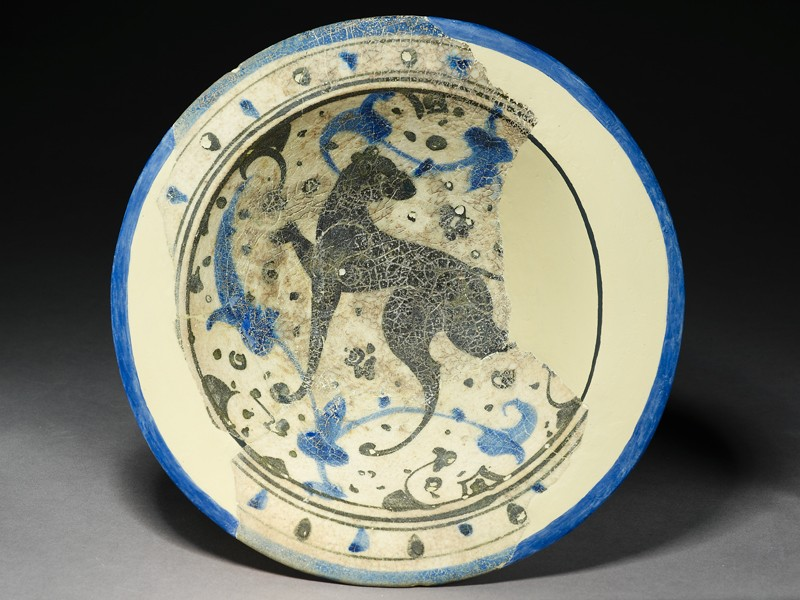 Bowl with hunting dog (EA1978.2183, top             )