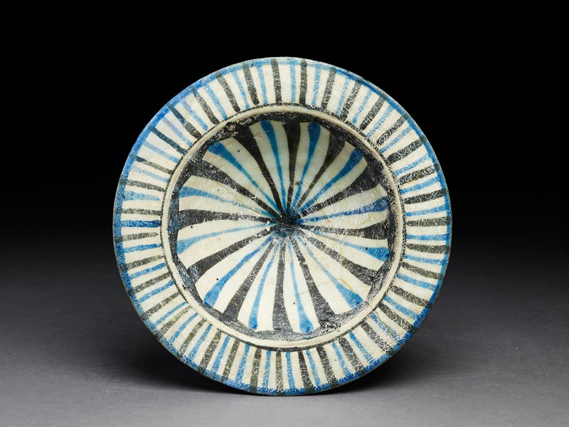 Dish with stripes (EA1978.2187, top             )